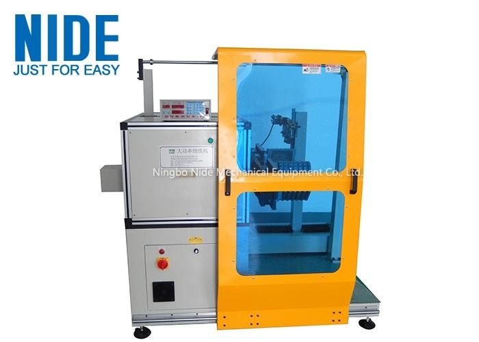 Single Working Station Automatic Coil Winding Machine / Big Coil Motor Stator Winding Machine